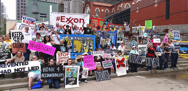 exxon fossil fuel divestment dallas