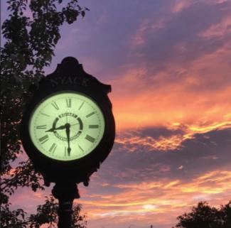 Nyack Clock. Photo Credit: Colin Holmes Nyack via Instagram, 2017-07-20