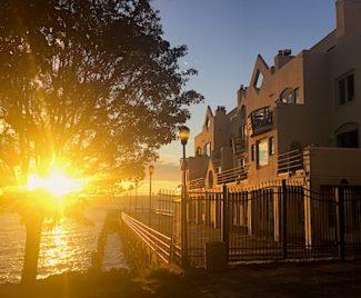 Hudson River Sunrise, Clermont, Main St, Nyack, Lens flare. Photo Credit: Dave Zornow